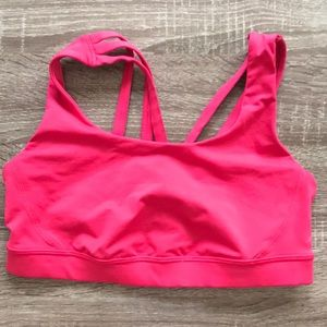 Hot pink lulu bra